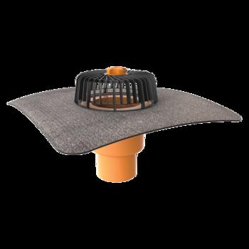 Függőleges tetőösszefolyó integrált bitumenes gallérral