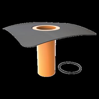 Megrendelésre készített integrált gallérral felszerelt tetőösszefolyó toldata