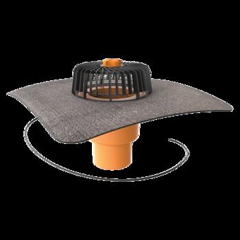 Függőleges fűthető tetőösszefolyó integrált bitumenes gallérral