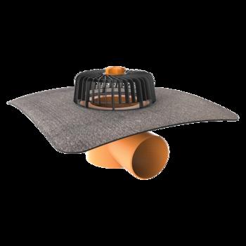 Vízszintes tetőösszefolyó integrált bitumenes gallérral