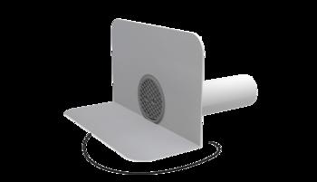 Fűthető kerek vízköpő integrált PVC gallérral