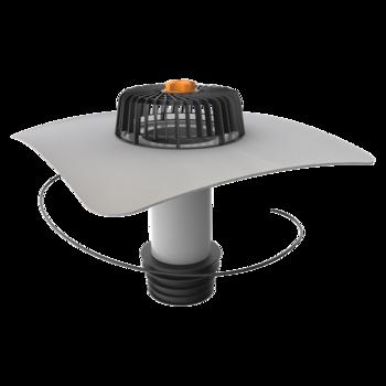 Függőleges fűthető javítási összefolyó integrált PVC gallérral