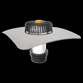 Nem hőszigetelt tetőkön alkalmazható javítási összefolyó integrált PVC gallérral