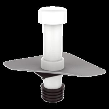 Javítási szellőző integrált PVC gallérral
