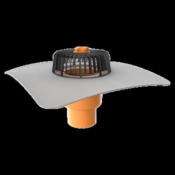 Függőleges tetőösszefolyó integrált PVC gallérral
