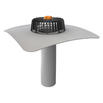 Egyfalú tetőösszefolyó integrált PVC gallérral