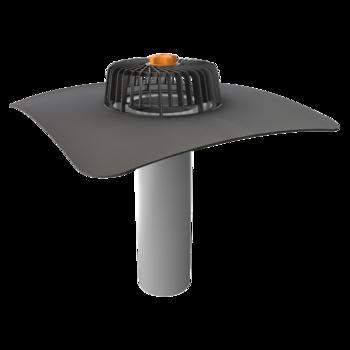 Egyfalú tetőösszefolyó megrendelésre készített integrált gallérral