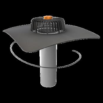 Egyfalú fűthető tetőösszefolyó megrendelésre készített integrált gallérral