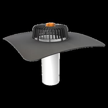 Nem hőszigetelt tetőkön alkalmazható egyfalú tetőösszefolyó megrendelésre készített integrált gallérral