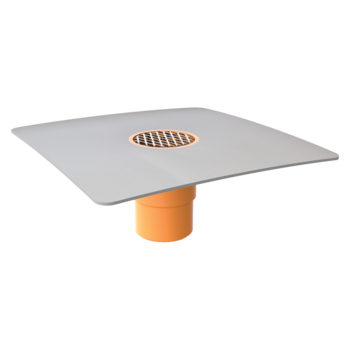 Függőleges erkélyösszefolyó integrált PVC gallérral