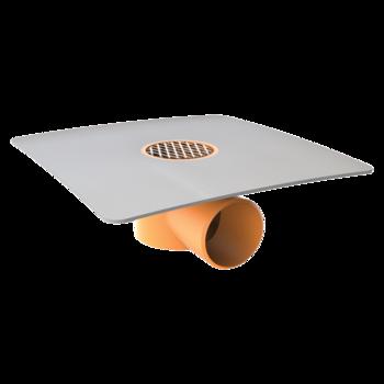 Vízszintes erkélyösszefolyó integrált PVC gallérral
