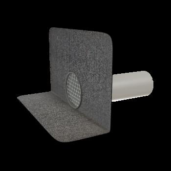 Kerek vízköpő integrált bitumenes gallérral