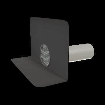 Kerek vízköpő megrendelésre készített integrált gallérral