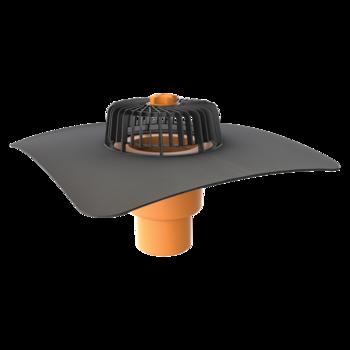 Függőleges tetőösszefolyó megrendelésre készített integrált gallérral