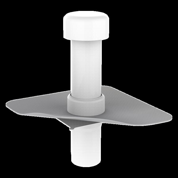 Csatornaszellőző integrált PVC gallérral
