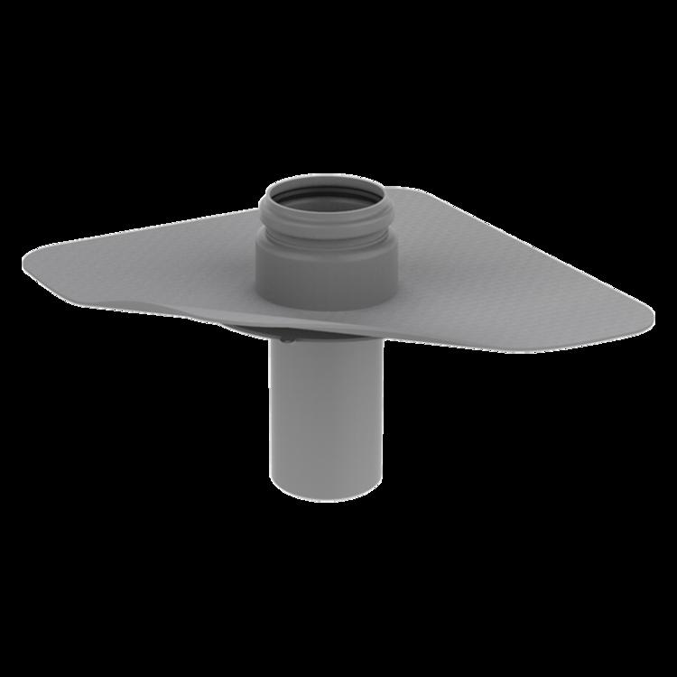 Párazáró fólián átvezető cső integrált PVC gallérral