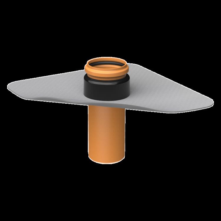 XL-es párazáró fólián átvezető cső integrált PVC gallérral