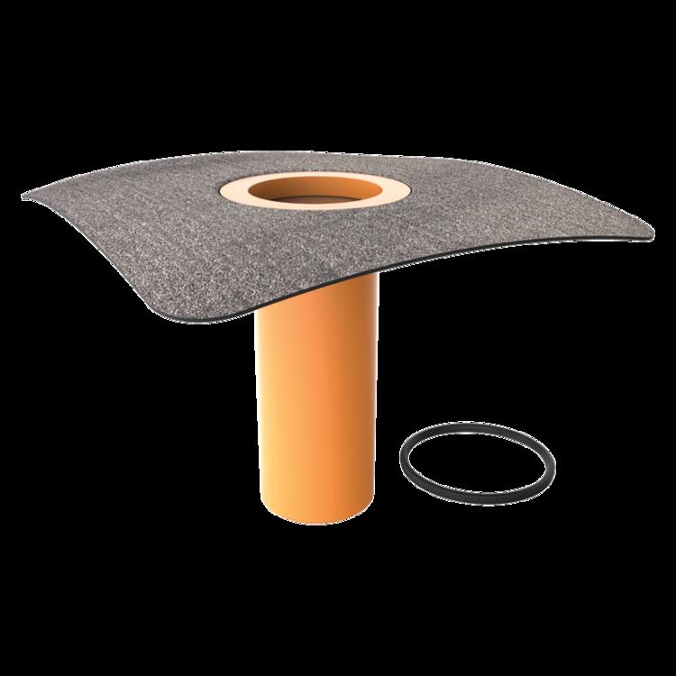 Integrált bitumenes gallérral felszerelt tetőösszefolyó toldata