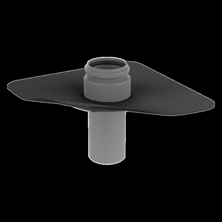 Párazáró fólián átvezető cső megrendelésre készített integrált gallérral