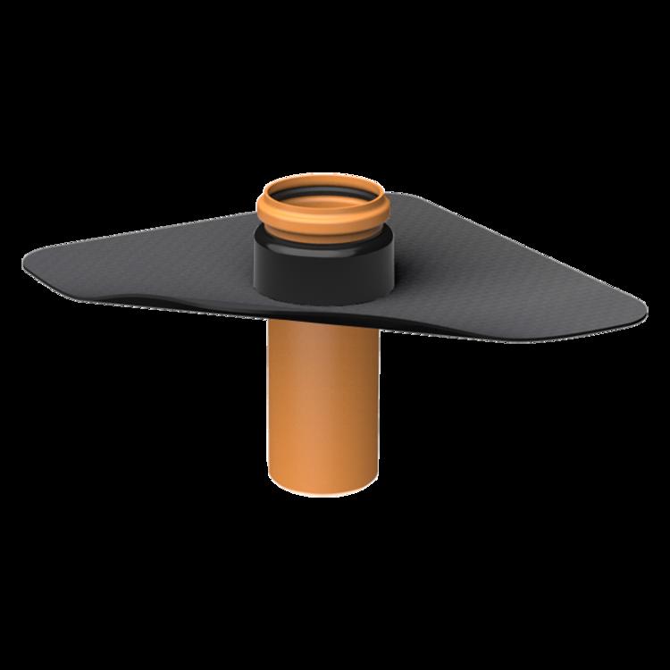 XL-es párazáró fólián átvezető cső megrendelésre készített integrált gallérral