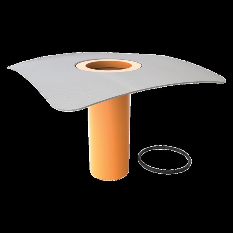 Integrált PVC gallérral felszerelt tetőösszefolyó toldata