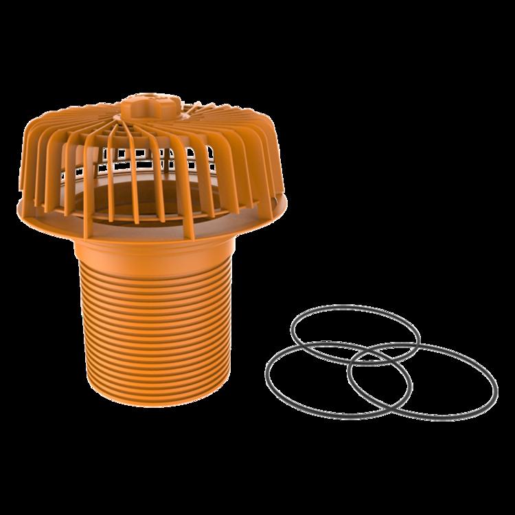 Biztonsági túlfolyó a felületbe beépített vízelvezető rendszerhez