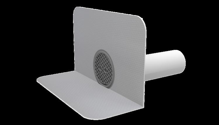 Kerek vízköpő integrált PVC gallérral