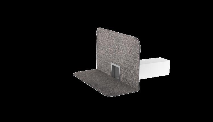 TOPWET szögletes vízköpő integrált bitumenes gallérral