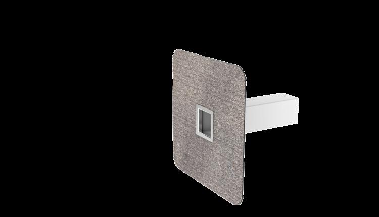 Szögletes biztonsági túlfolyó integrált bitumenes gallérral