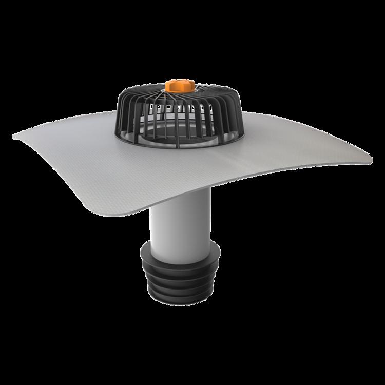 Függőleges javítási összefolyó integrált PVC gallérral