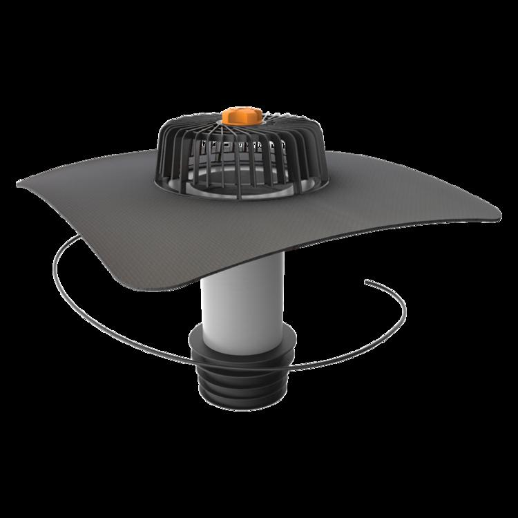 Függőleges fűthető javítási összefolyó megrendelésre készített integrált gallérral
