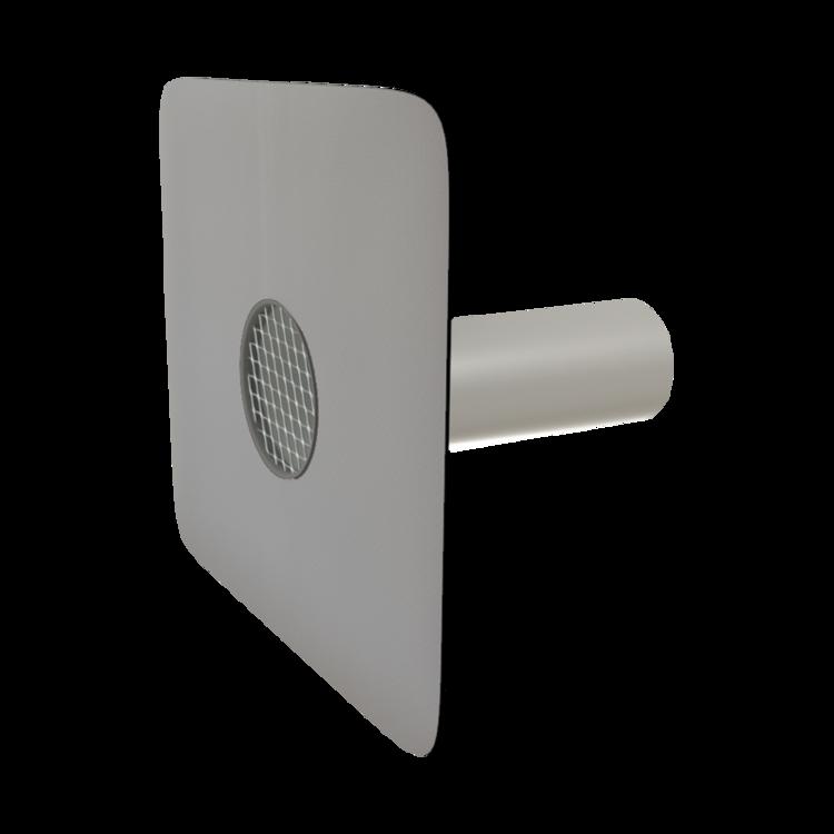 Kerek biztonsági túlfolyó integrált PVC gallérral
