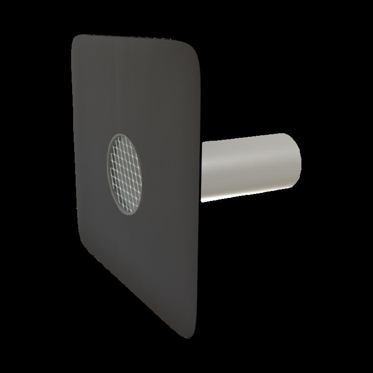 Kerek biztonsági túlfolyó megrendelésre készített integrált gallérral
