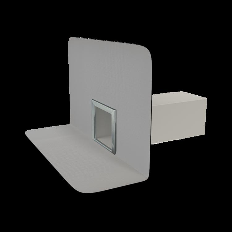 TOPWET szögletes vízköpő integrált PVC gallérral